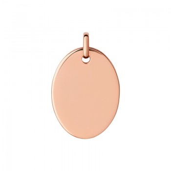 Links Of London Narrative 18kt Rose Gold Vermeil Large Oval Disc Pendant