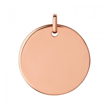Links Of London Narrative 18kt Rose Gold Vermeil Large Round Disc Pendant