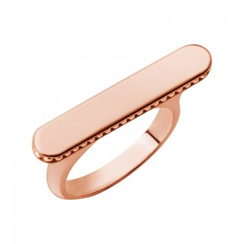 Links Of London Narrative 18kt Rose Gold Vermeil Long Ring