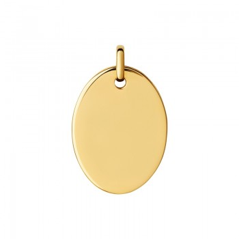 Links Of London Narrative 18kt Yellow Gold Vermeil Large Oval Disc Pendant
