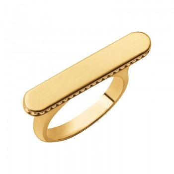 Links Of London Narrative 18kt Yellow Gold Vermeil Long Ring