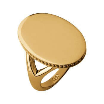 Links Of London Narrative 18kt Yellow Gold Vermeil Oval Ring