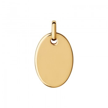 Links Of London Narrative 18kt Yellow Gold Vermeil Small Oval Disc Pendant