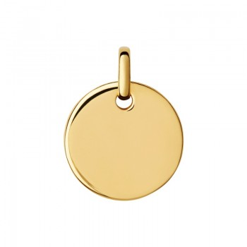 Links Of London Narrative 18kt Yellow Gold Vermeil Small Round Disc Pendant