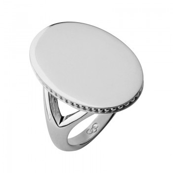 Links Of London Narrative Sterling Silver Oval Ring
