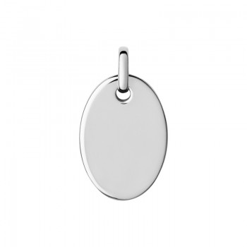 Links Of London Narrative Sterling Silver Small Oval Disc Pendant
