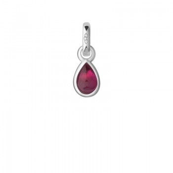 Links Of London Ruby & Sterling Silver July Mini Birthstone Charm