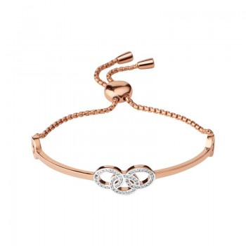 Links Of London Signature 18kt Rose Gold Vermeil & Sapphire Bracelet