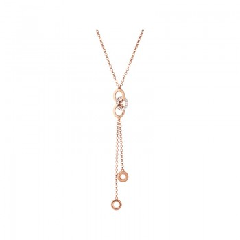 Links Of London Signature 18kt Rose Gold Vermeil & Sapphire Necklace