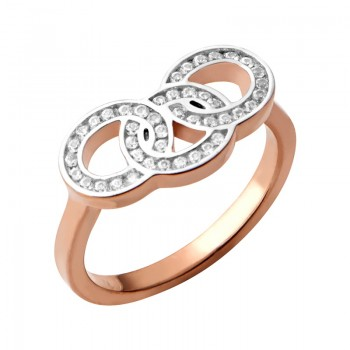 Links Of London Signature 18kt Rose Gold Vermeil & Sapphire Ring