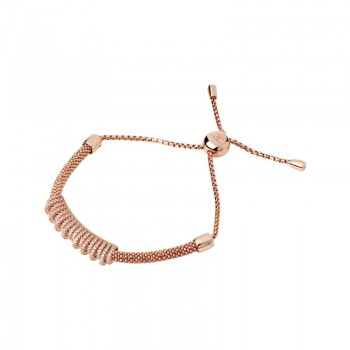 Links Of London Starlight 18kt Rose Gold Vermeil & Sapphire Crown Bracelet