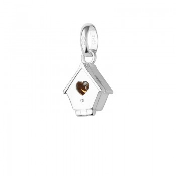 Links Of London Sterling Silver & 18kt Gold Vermeil Bird House Charm