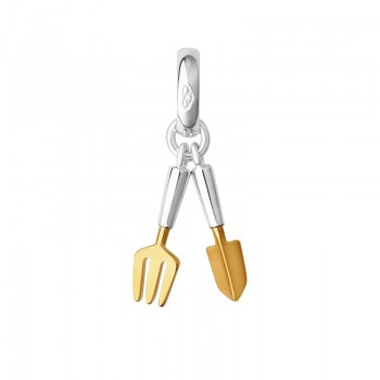 Links Of London Sterling Silver & 18kt Gold Vermeil Gardening Charm