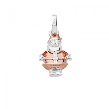 Links Of London Sterling Silver & 18kt Rose Gold Vermeil Santa Claus Bauble Charm