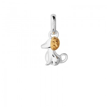 Links Of London Sterling Silver & 18kt Yellow Gold Vermeil Chinese Zodiac Dog Charm
