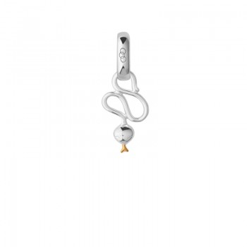 Links Of London Sterling Silver & 18kt Yellow Gold Vermeil Chinese Zodiac Snake Charm