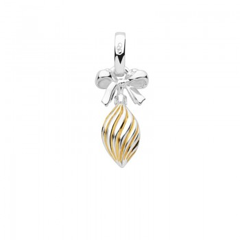 Links Of London Sterling Silver & 18kt Yellow Gold Vermeil Drop Bauble Charm