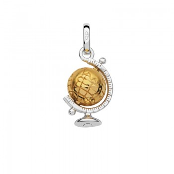 Links Of London Sterling Silver & 18kt Yellow Gold Vermeil Globe Charm