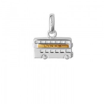 Links Of London Sterling Silver & 18kt Yellow Gold Vermeil London Routemaster Charm