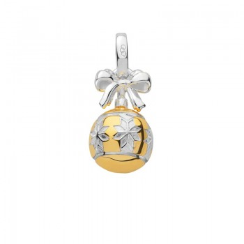 Links Of London Sterling Silver & 18kt Yellow Gold Vermeil Star Bauble Charm