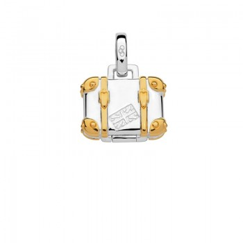 Links Of London Sterling Silver & 18kt Yellow Gold Vermeil Suitcase Charm