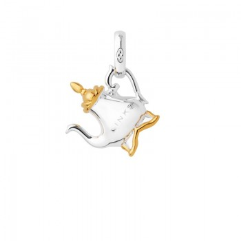 Links Of London Sterling Silver & 18kt Yellow Gold Vermeil Tea Pot Charm