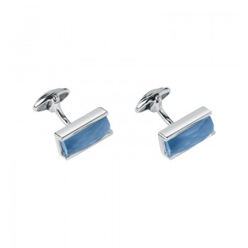 Links Of London Sterling Silver & Blue Agate Doublet Cufflinks