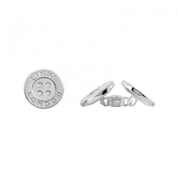 Links Of London Sterling Silver Button Chainlink Cufflinks