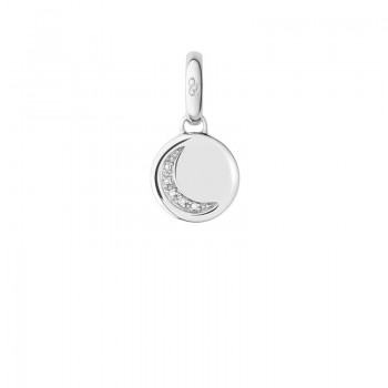 Links Of London Sterling Silver Crescent Moon Disc Charm