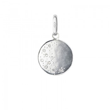 Links Of London Sterling Silver & Diamond Moon Charm