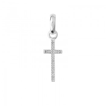 Links Of London Sterling Silver & Diamond Pave Cross Charm