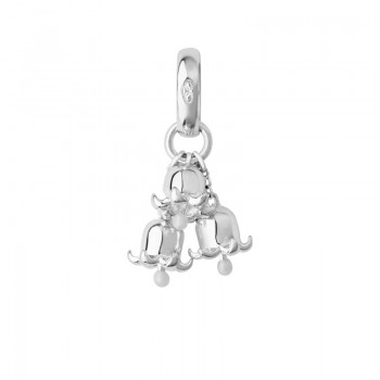 Links Of London Sterling Silver & Enamel Lily of the Valley Charm