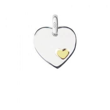 Links Of London Sterling Silver Heart Disc Charm