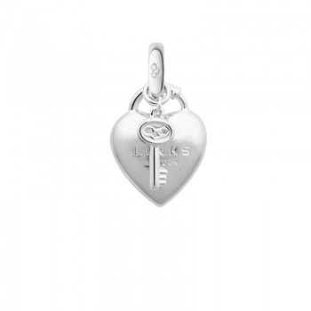 Links Of London Sterling Silver Heart Padlock Charm
