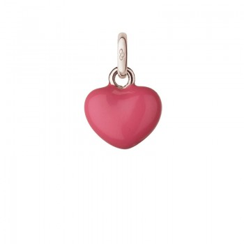 Links Of London Sterling Silver & Pink Mini Heart Charm