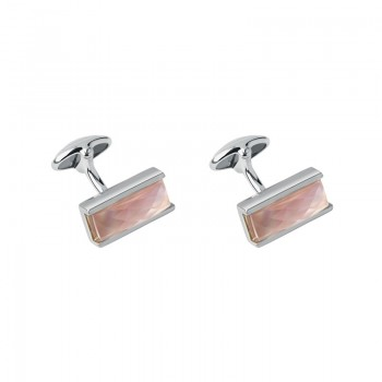 Links Of London Sterling Silver & Pink Mother of Pearl Doublet Cufflinks