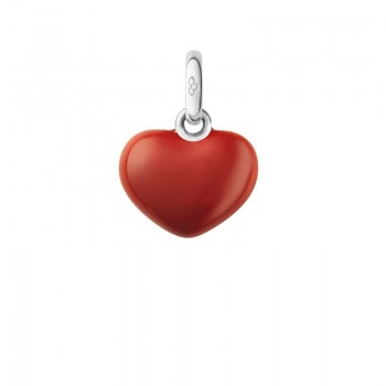 Links Of London Sterling Silver Red Heart Charm