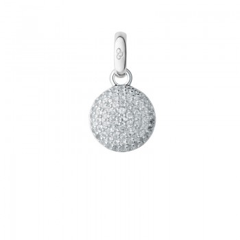 Links Of London Sterling Silver & Topaz Pave Disc Charm