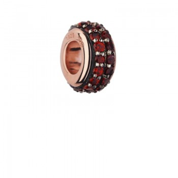 Links Of London Sweetie 18kt Rose Gold Vermeil & Rhodolite Garnet Pave Bead
