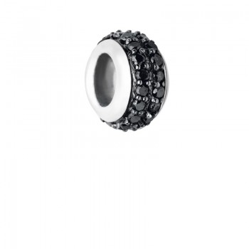 Links Of London Sweetie Sterling Silver & Black Diamond Pave Bead
