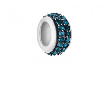 Links Of London Sweetie Sterling Silver & Blue Diamond Pave Bead