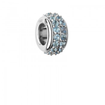 Links Of London Sweetie Sterling Silver & Blue Topaz Pave Bead