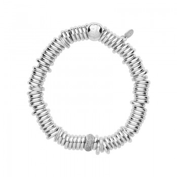 Links Of London Sweetie Sterling Silver & Diamond Pave Bead Bracelet