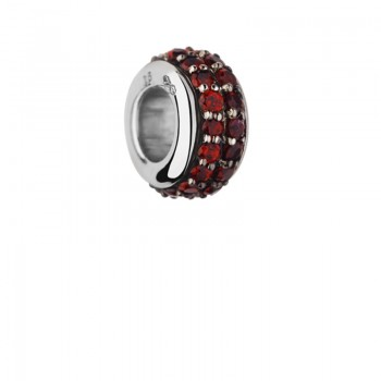 Links Of London Sweetie Sterling Silver & Rhodolite Garnet Pave Bead