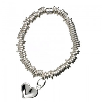 Links Of London Sweetie Sterling Silver Thumbprint Childs Bracelet with Heart Charm