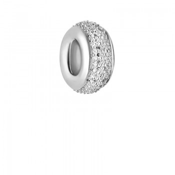 Links Of London Sweetie Sterling Silver & White Diamond Pave Bead