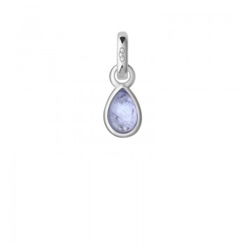 Links Of London Tanzanite & Sterling Silver December Mini Birthstone Charm