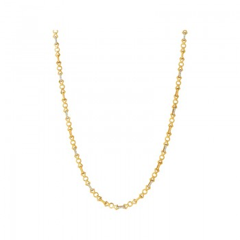 Links Of London Timeless 18kt Gold & Diamond Chain Necklace