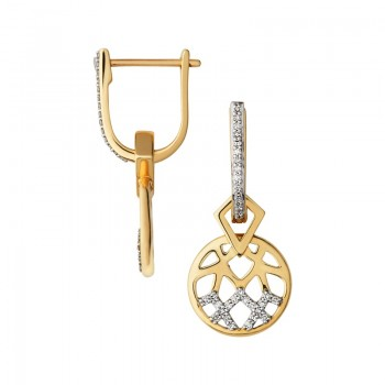 Links Of London Timeless 18kt Gold & Diamond Drop Earrings