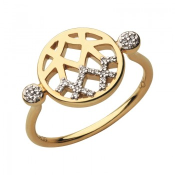 Links Of London Timeless 18kt Gold & Diamond Ring